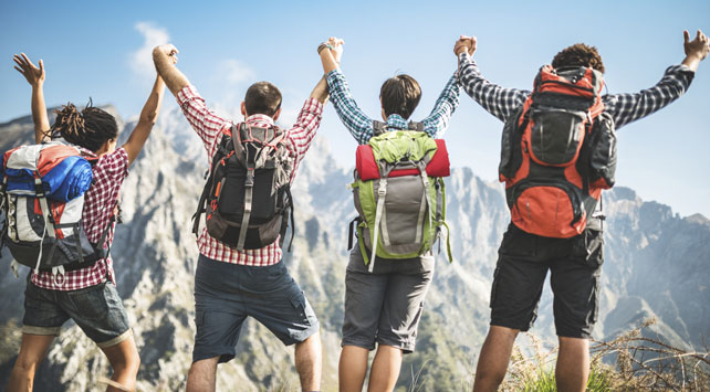 Hiking in your group getaways